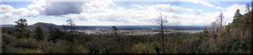 Panoramic view of East Flagstaff was taken from Fatmans Loop by Brady Smith in Sept. 2008