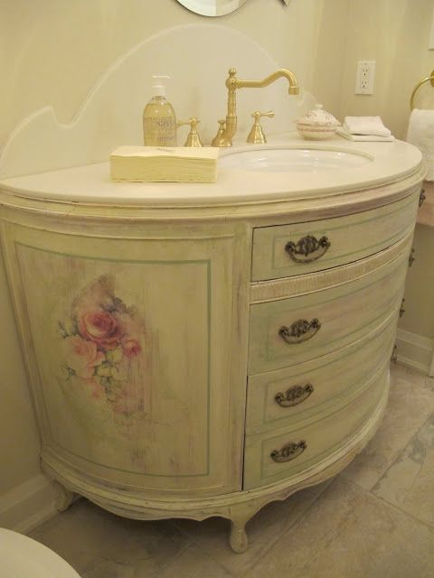 Round Vanities And Finally In Light Tones. Want A Demi Lune So Badly. But · Shabby  Chic BathroomsRomantic BathroomsLuxurious ...