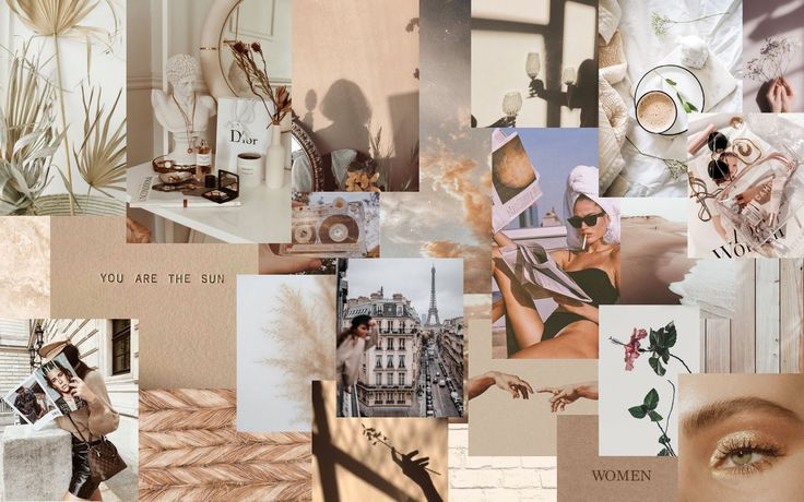If you're searching for brown wallpaper aesthetic laptop topic, you have visit the ideal blog. Neutral Collage | Aesthetic desktop wallpaper, Cute ...