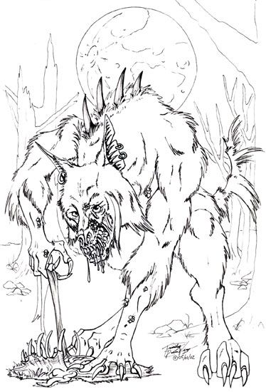 halloween coloring book images google search - Halloween Werewolf Coloring Pages