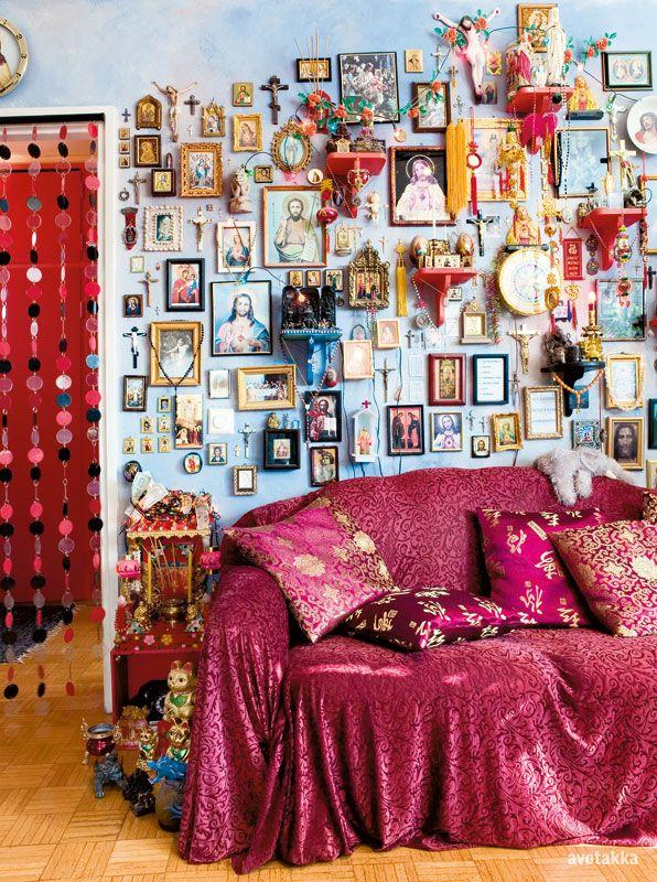 Living room wall shrine