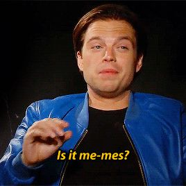 Sebastian Stan - this gif would be better if he were trying to pronounce gif instead of meme!