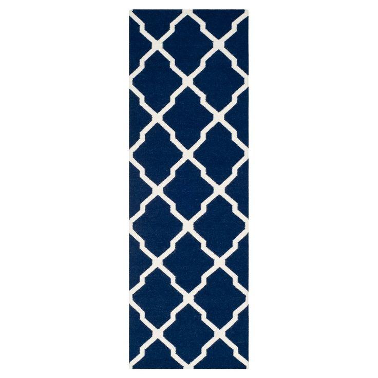 Taza Dhurry Rug - Navy/Ivory (Blue/Ivory) - (2'6x6') - Safavieh