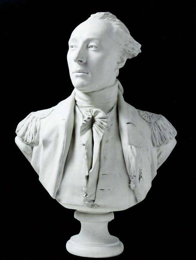 Bust of marquis de lafayette s by jean antoine