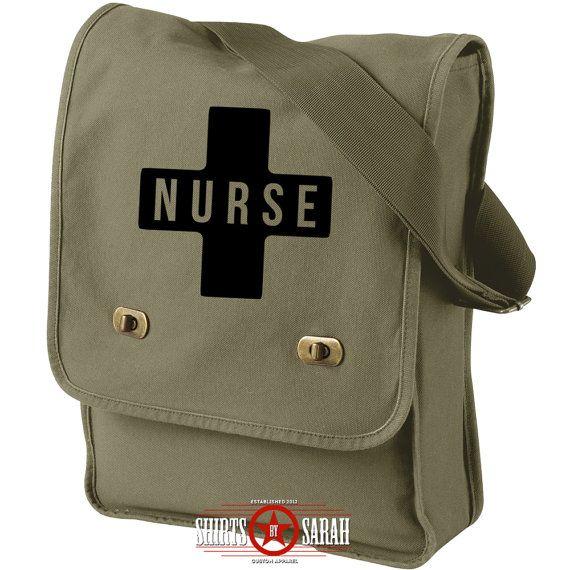 Nurse Field Bag - Messenger Bag Nursing LPN RN Purse Bags Purses Large Custom Med Pack Nurses