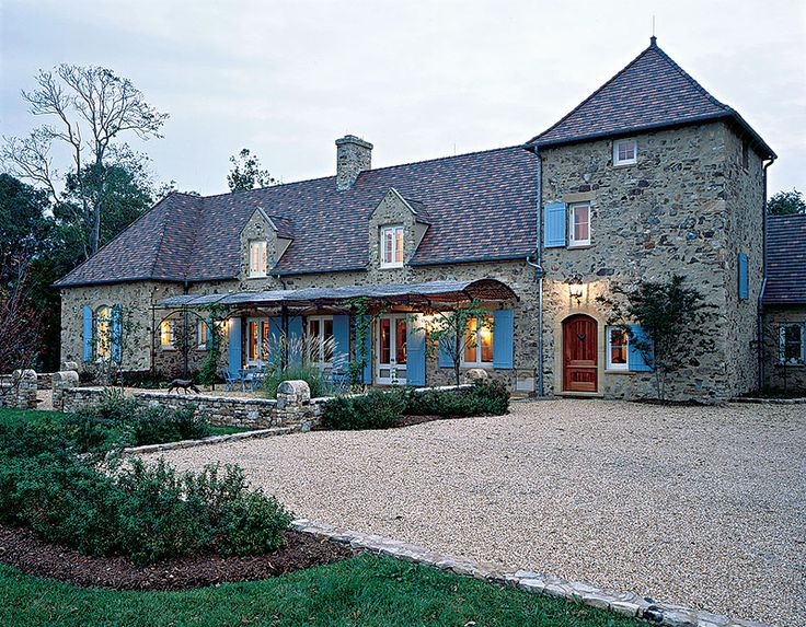 French Inspired Country House With A Rugged Elegance