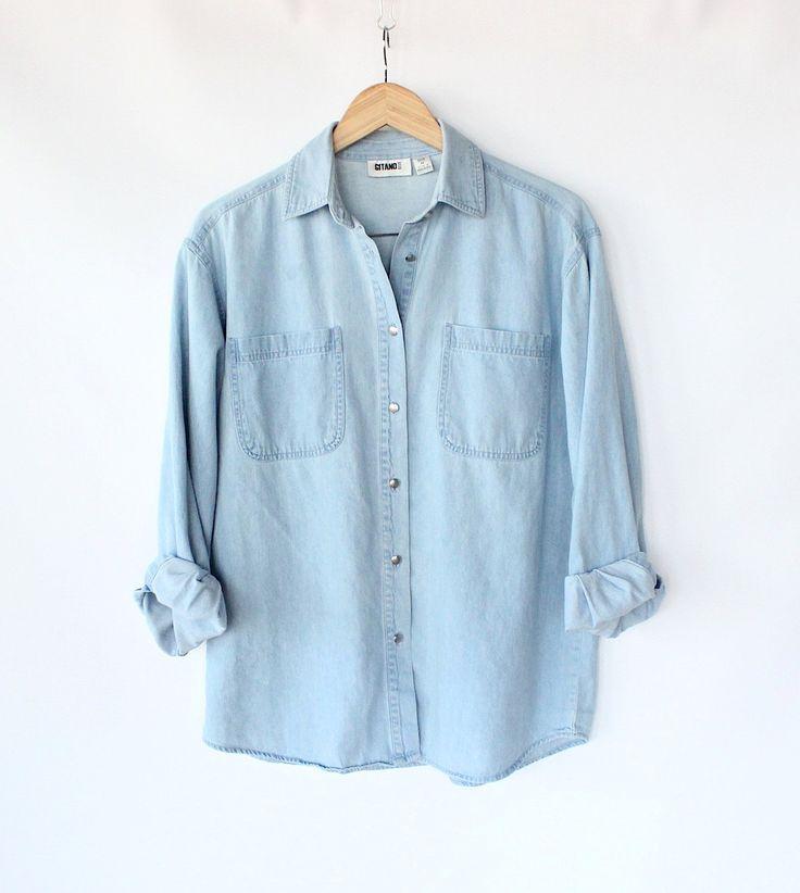 17 bedste idéer til Blue Button Up Shirt på Pinterest