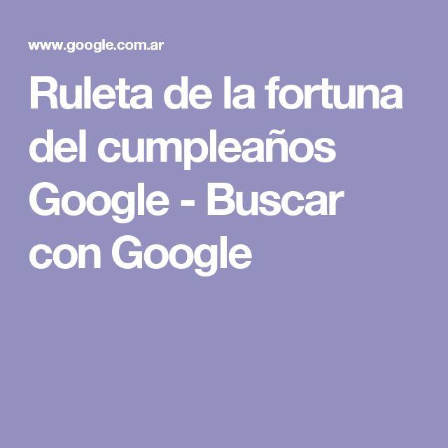 Ruleta de la fortuna del cumpleaños Google - Buscar con Google