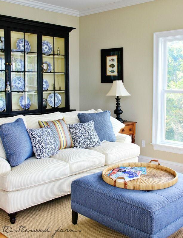 13 best denim couch images on pinterest living room for Cape cod living room furniture