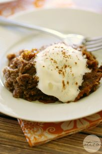 Slow Cooker Pumpkin Dump Cake - Simply Stacie