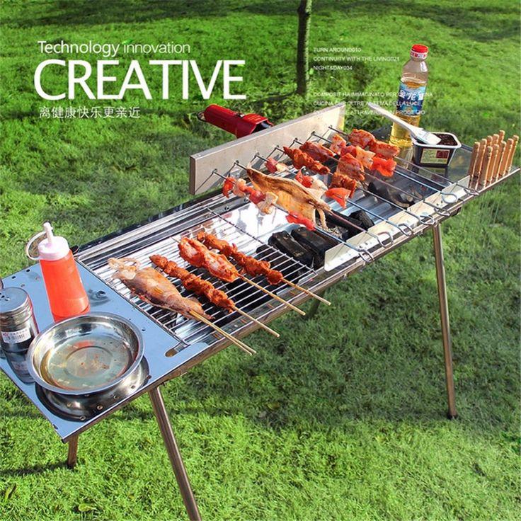 Completamente automatico rotante in acciaio inox griglia a carbone barbecue grill all'aperto grande BARBECUE commerciali