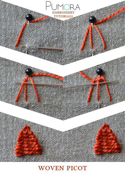 Pumora's embroidery stitch-lexicon: the woven picot