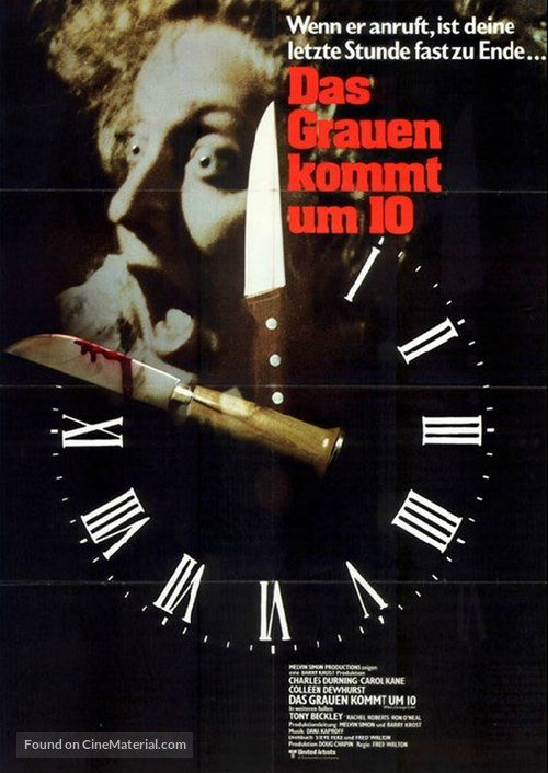 When a Stranger Calls - German Movie Poster