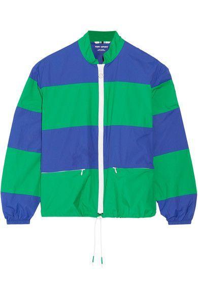 Tory Sport - Striped Shell Jacket - Royal blue -