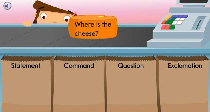 Which bag should the cheese go in? Have your student practice identifying different types of sentences in this activity.