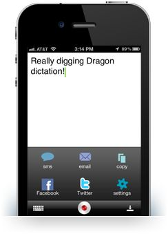 Dragon Dictation  is an easy-to-use voice recognition application powered by Dragon NaturallySpeaking that allows you to easily speak and instantly see your text content for everything from email messages to blog posts on your iPad™, iPhone™ or iPod touch™. Must have Internet access to use. Free.