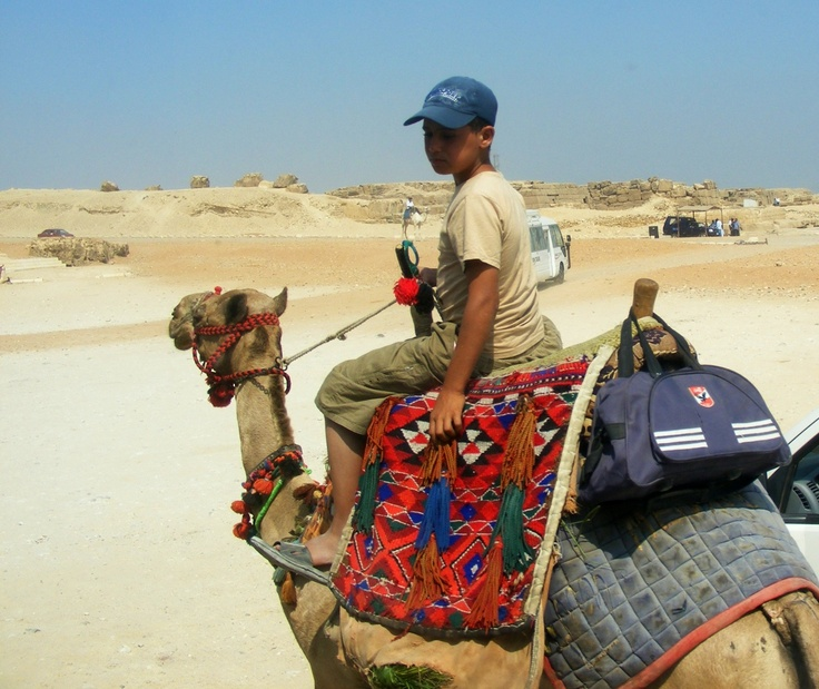 Ragazzo su cammello