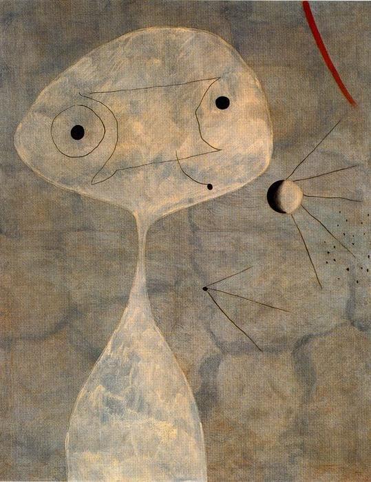 'Hombre con pipa', huile de Joan Miro (1893-1983, Spain)