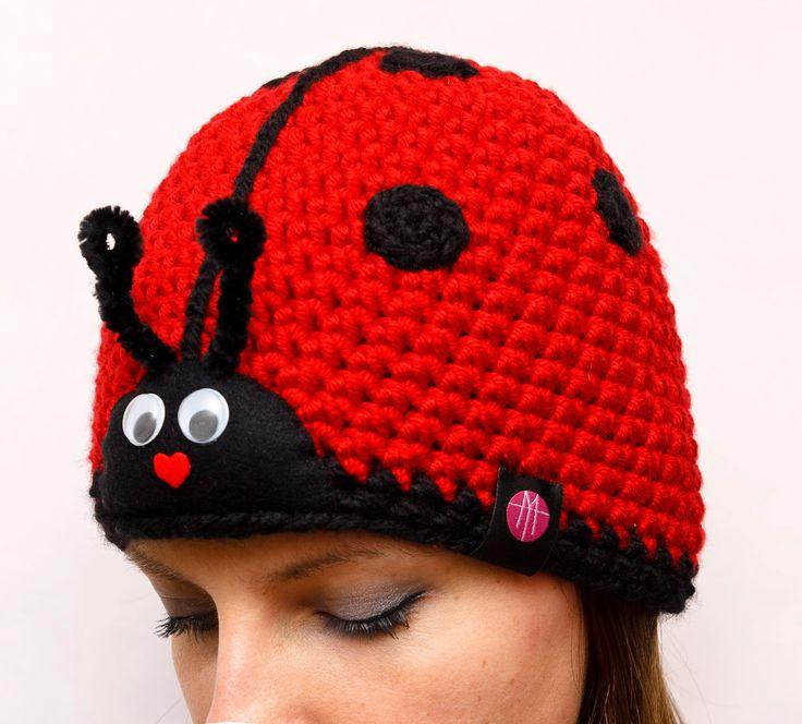 MAMTWORY: Czapka BIEDRONKA / Ladybug hat BLOG: www.100pomyslownaminute.blogspot.com SHOP: www.mamtwory.pl