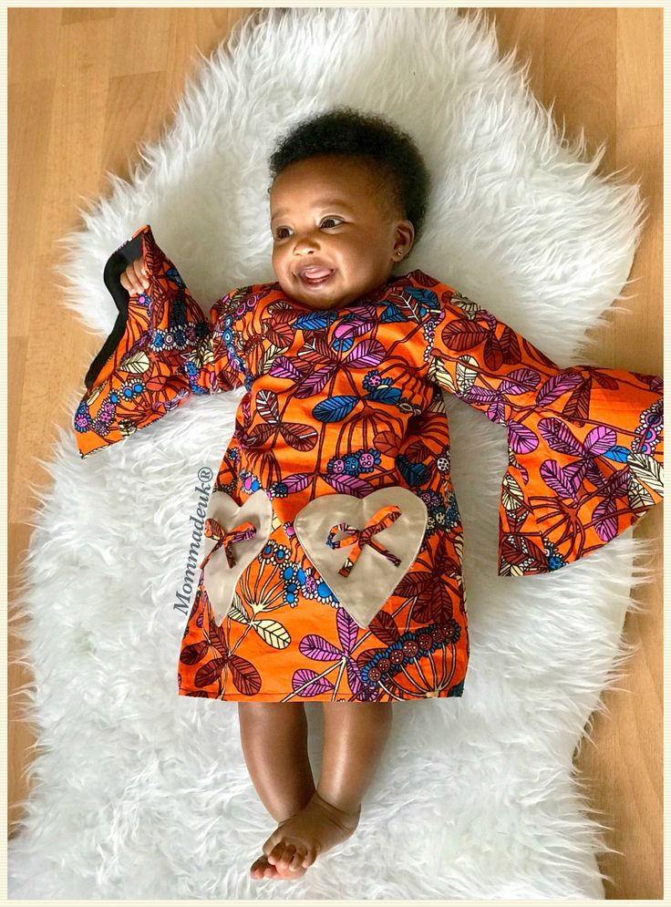 """Ankara ready to ship shift dress for kids with bell sleeves 6mths- 5yrs. """"The Elyon Dress"""" African kids clothes. Ankara baby dress . Kitenge by MommadeUK on Etsy https://www.etsy.com/uk/listing/534303739/ankara-ready-to-ship-shift-dress-for"""