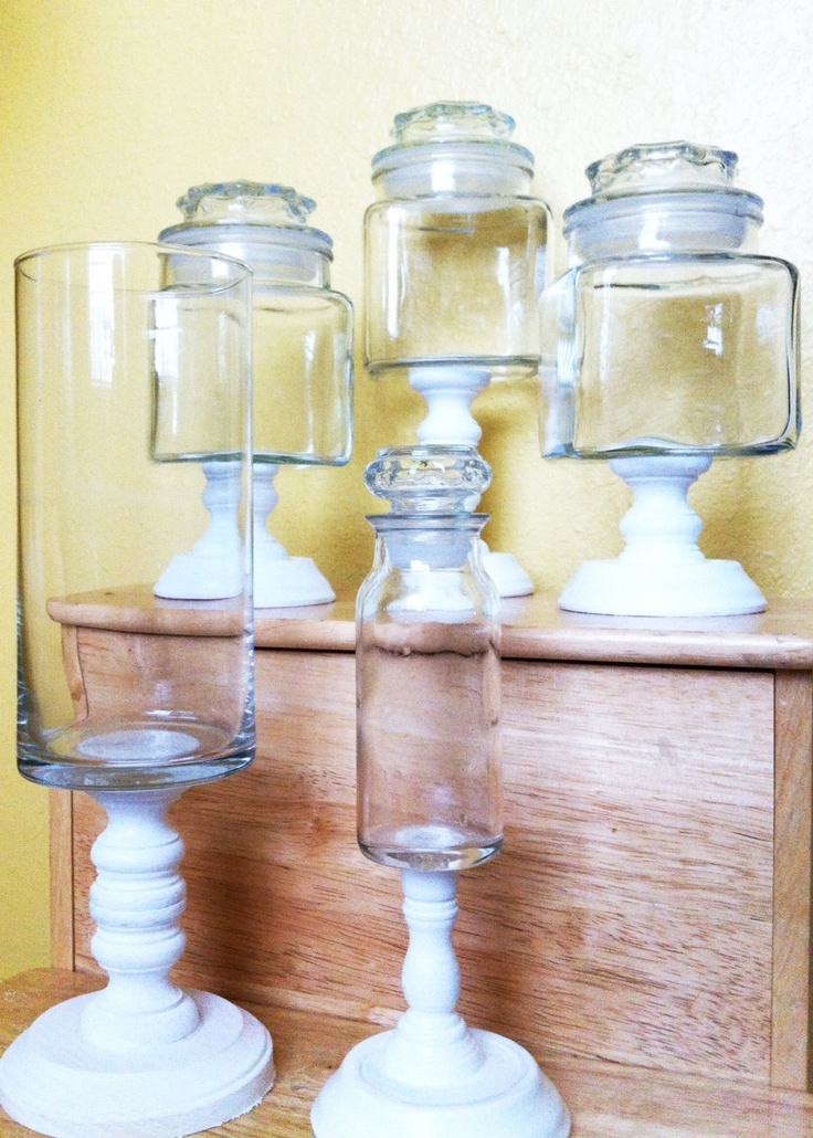 how to make candlestick candy jars