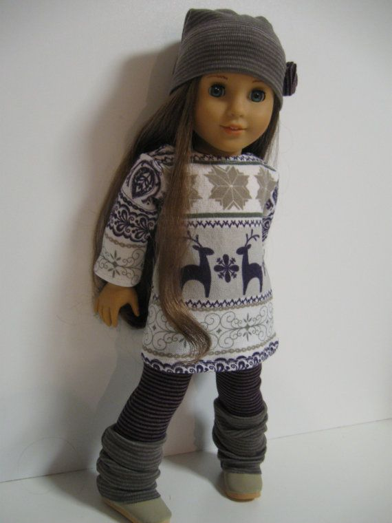 American Girl Doll Clothes Cozy Winter Nordic by 123MULBERRYSTREET, $28.00