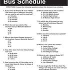 Non-Fiction Informational Documents - Bus Schedule - Test Prep  This 3-page handout includes a bus schedule and 11 questions about the schedule. Th...