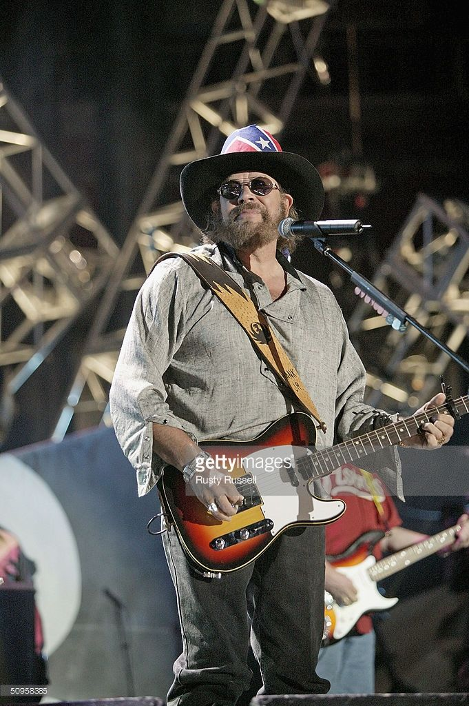 Country music artist Hank Williams, Jr. performs at the 2004 CMA Music Festival (formerly known as FanFair) June 13, 2004 in Nashville, Tenessee. The four-day festival, the largest in country music, will be featured in a two-hour television special on CBS TV in summer, 2004.