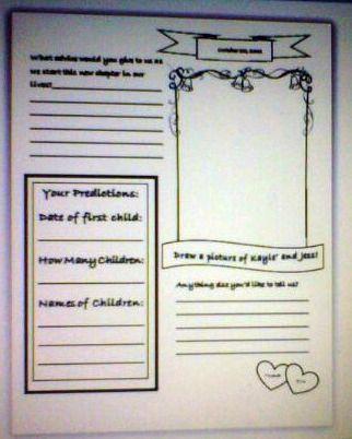 wedding guest book template