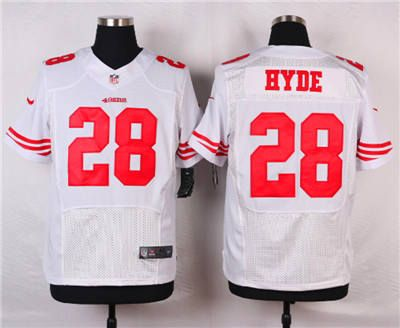 1f724e241 28 elite carlos hyde san francisco 49ers womens jersey nfl road white