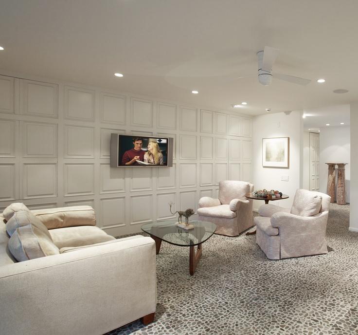 Classic Elegant Home Interior Design Ideas Old Palm Golf: Den / Hidden Storage Behind Paneled Wall