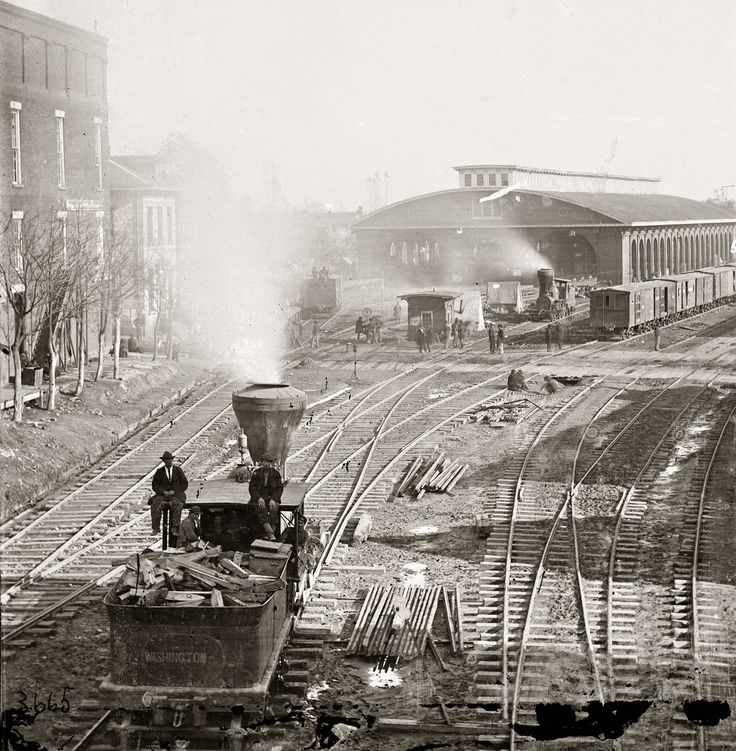 Shorpy Historic Picture Archive :: Atlanta Depot: 1864 high-resolution photo