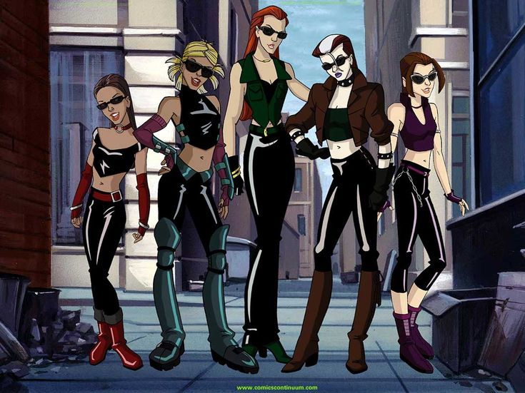 The Bayville Sirens from X-Men Evolution