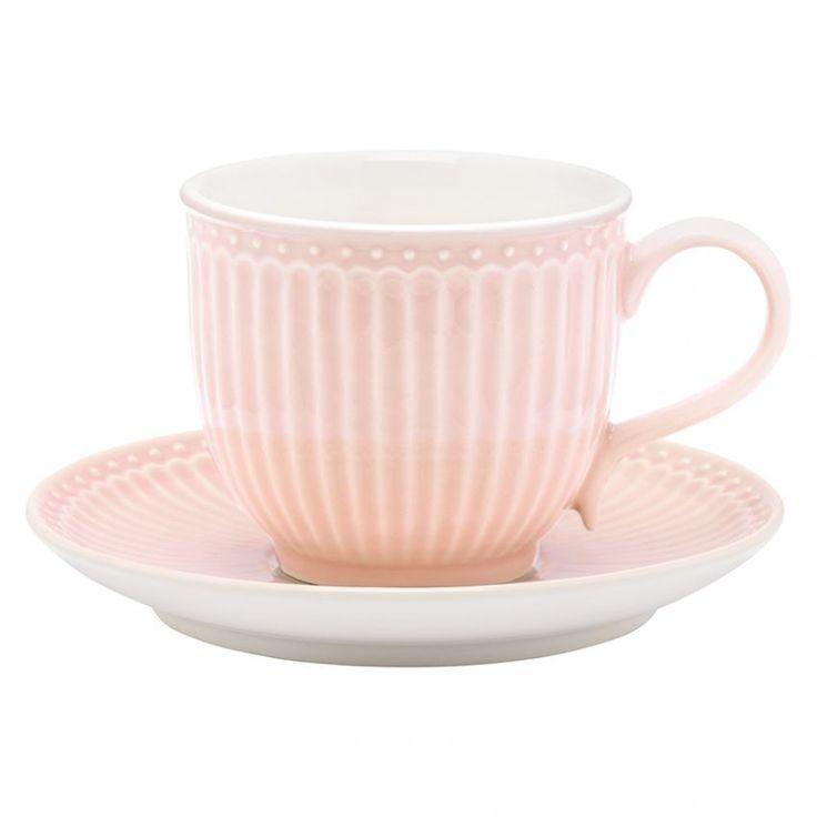 Kop en schotel Alice licht roze