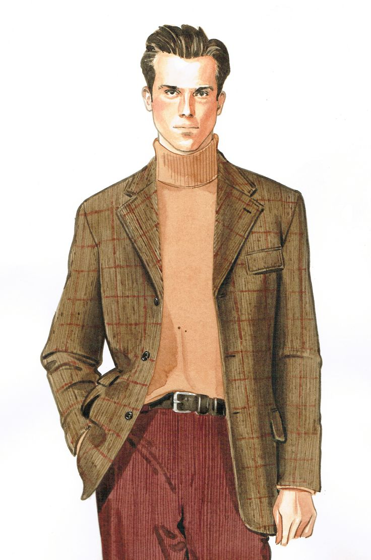 In-house fashion illustration for menswear designer. By Lamont  O'Neal
