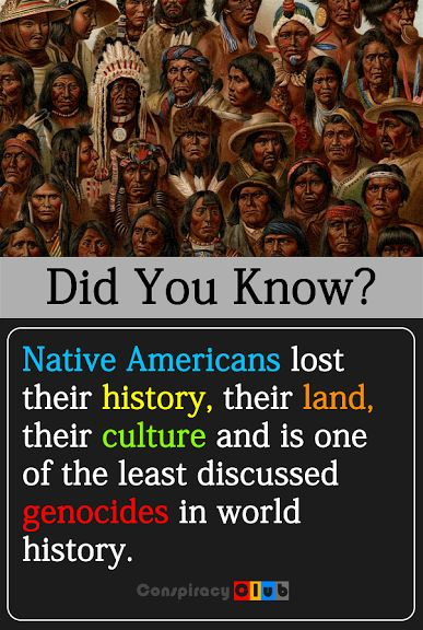 """""""Native Americans lost their history, their land, their culture and is one of the least discussed genocides in world history."""" We need to talk about the Native American Holocaust and bring awareness to the struggles and social pathology it has created."""
