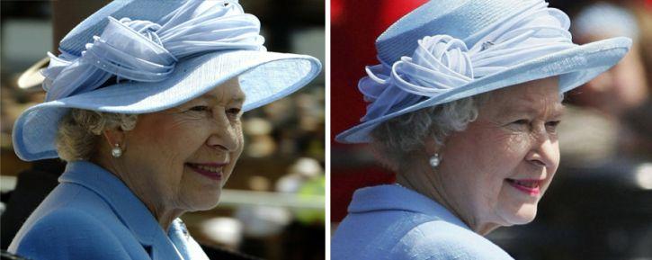 Queen Elizabeth, June 2003 and June 2005 in Philip Somerville | The Royal Hats Blog