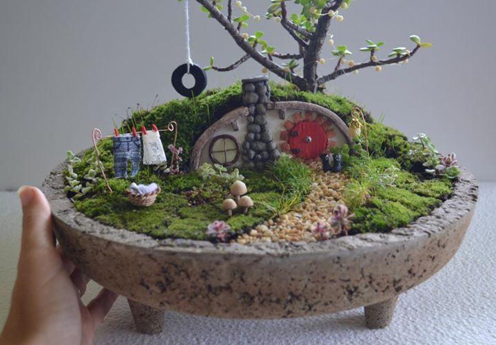 Jardin miniatura hobbit minijardin pinterest for Jardin miniature