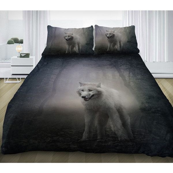 Wolf Bedding Set Gray Duvet Cover Cotton Sheetatching 67