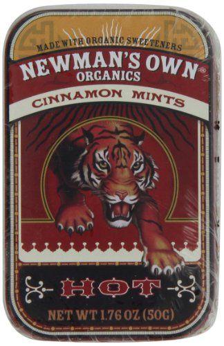 Newman's Own Organics Mints, Cinnamon, 1.76-Ounce Packages (Pack of 6) - http://goodvibeorganics.com/newmans-own-organics-mints-cinnamon-1-76-ounce-packages-pack-of-6/