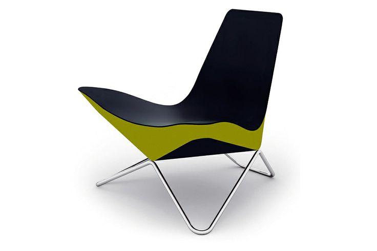 Walter Knoll MYchair. Een indrukwekkende fauteuil met schuine, ronde vormen. www.deprojectinrichter.com/walter-knoll/