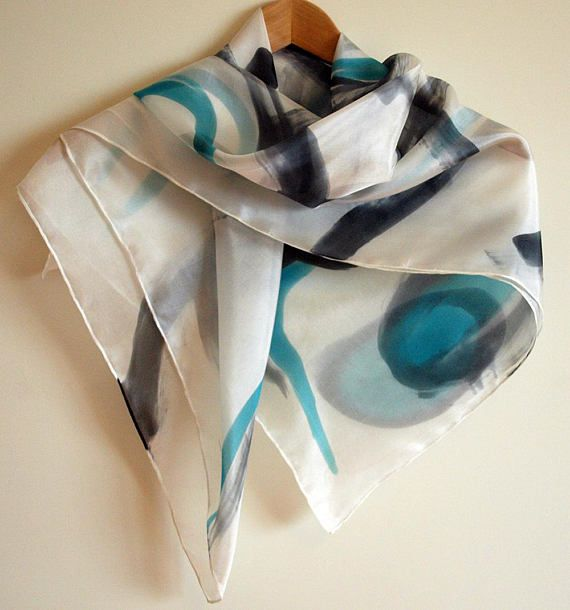 Online Cheap Price Silk Square Scarf - Gingkos blue on white by VIDA VIDA Visit Sale Get To Buy Free Shipping Ebay OxSqZ