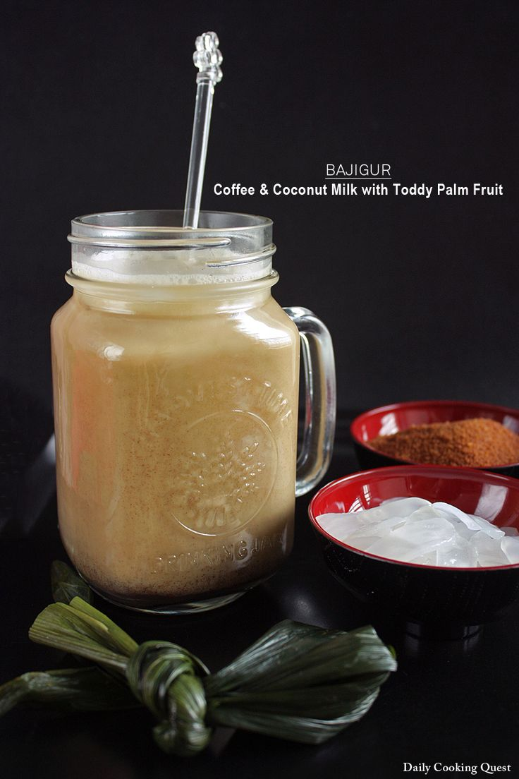 Bajigur - Coffee and Coconut Milk with Toddy Palm Fruit