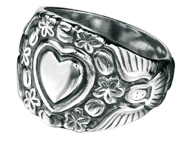 Kivennapa ring in silver