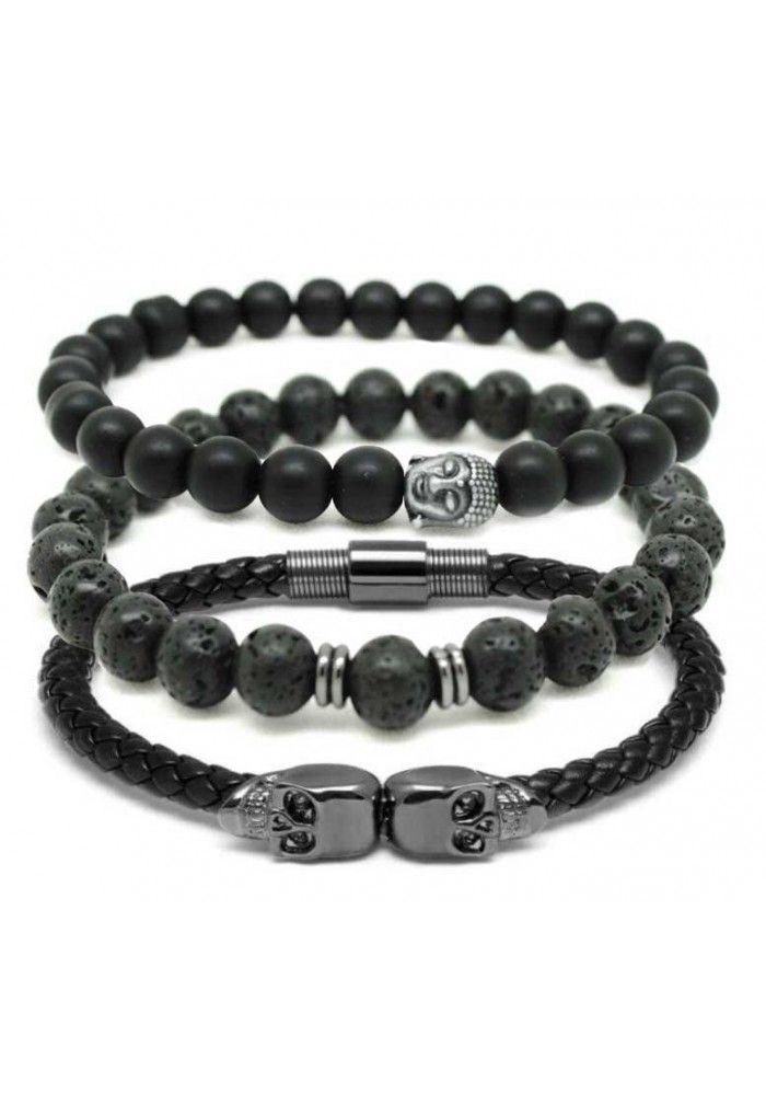 Combo de pulseiras masculinas cod0435