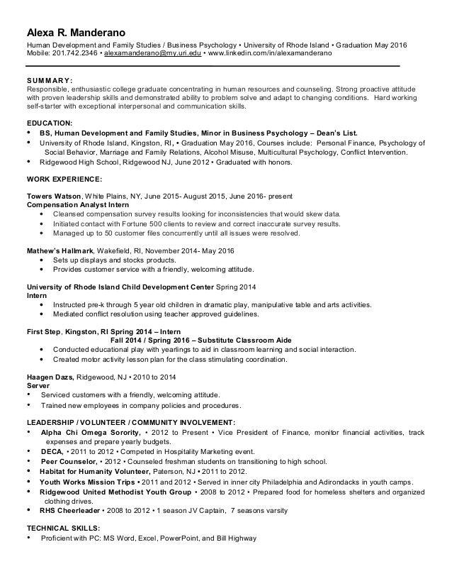 Resume Examples For 50 Year Olds Human Resources Resume Resume Examples Business Psychology