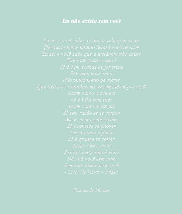 In other words: hoje, com o poeta Vinícius