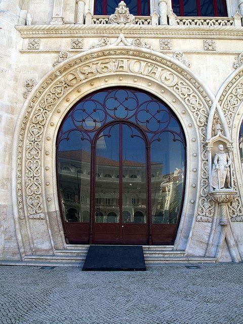 Train Station Door.Lisbon - Portugal