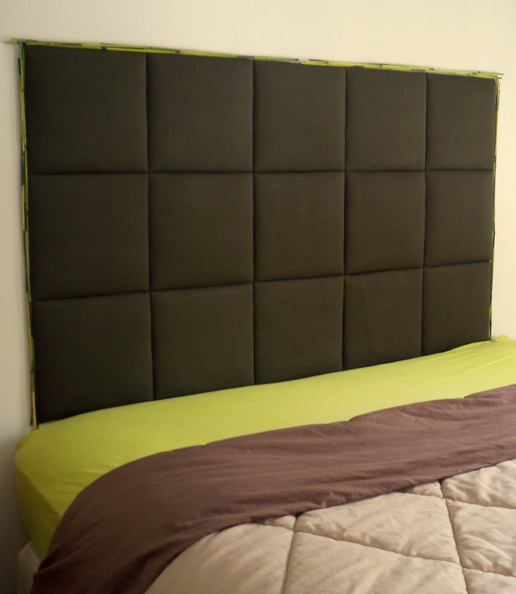 DIY fabric & foam headboard. I definitely want to try this for Dre's room
