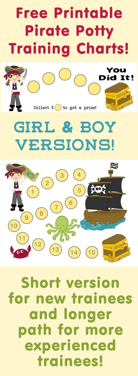 free printable pirate potty training reward charts